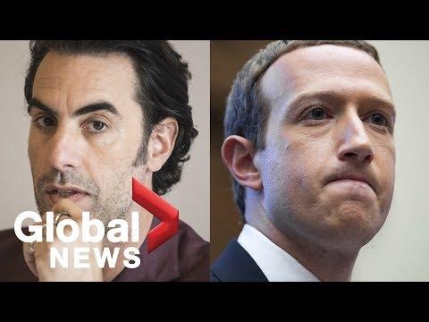 Sacha Baron Cohen targets Facebook CEO Mark Zuckerberg for spreading lies, hate speech