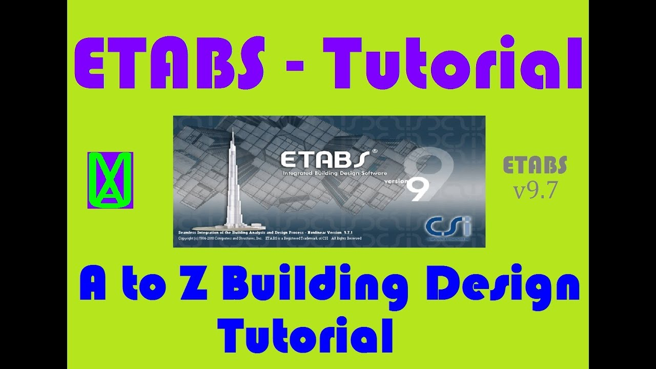 Etabs A To Z Building Design And Analysis Tutorial Full Design Tutorial For Beginners Youtube