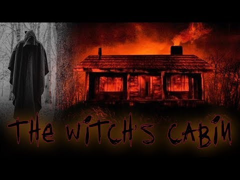 HAUNTED WITCH'S CABIN IN THE WOODS