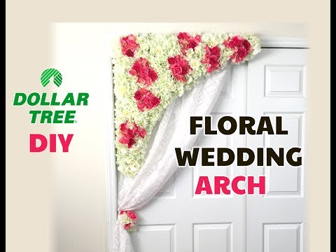 DIY Dollar Tree Floral Wedding Arch Swag