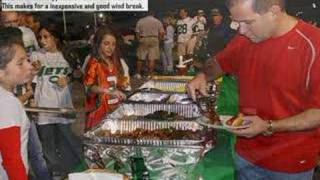 Tailgate Party: Keeping food hot w Skorr Wire Chafing Stands