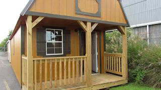 Derksen Urethane Finish 12x30 Lofted Barn Cabin With Electrical Package
