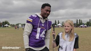 Minimasters meet NFL stars in London