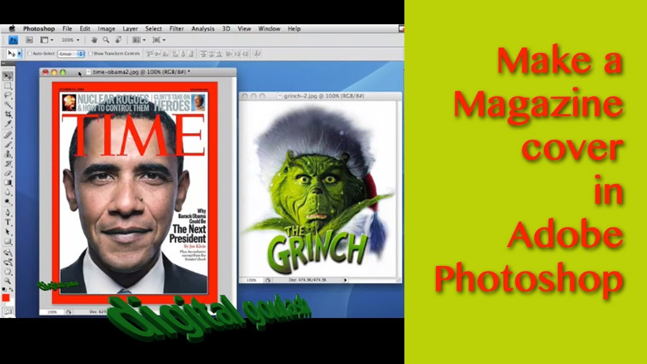 Photoshop made Easy - Make a Magazine Cover - YouTube