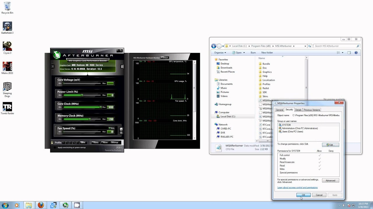 unlocking unofficial overclocking in MSI Afterburner