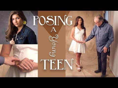 Posing a Young Teen / Studio Lighting and Backgrounding V3