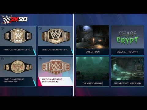 WWE 2K20 Overview: All Match Types, Arenas, Brawl Areas, Titles, Referees, Unlockables & More