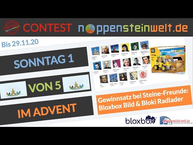 Sonntag 1 von 5 im Advent - Steinachtszeit in der Noppensteinwelt! Gewinnt mit den Steine-Freunde.