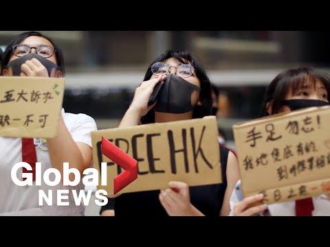 Hong Kong protesters gather at Tsuen Wan in Kowloon | FULL