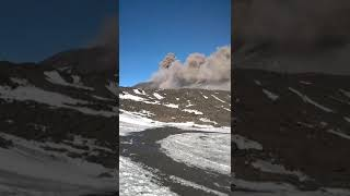 Etna volcano eruption, the 24/12/18,15 minutes before the eruption