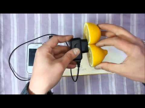 Limon ile Telefonu Şarj Etmek  (İNANILMAZ)