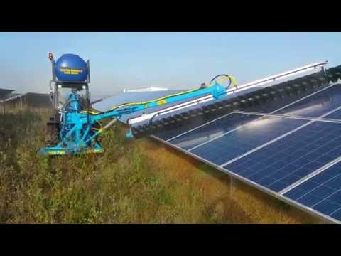 Industrial solar panel cleaning from Solar Park Cleaning UK