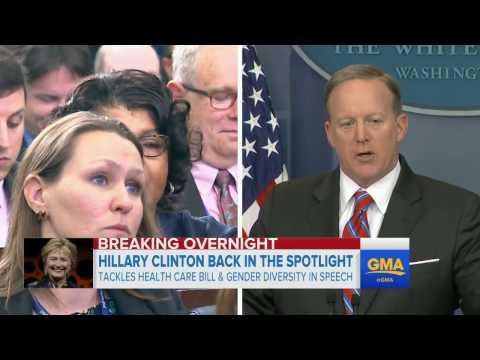 Hillary Clinton takes aim at Trump administration