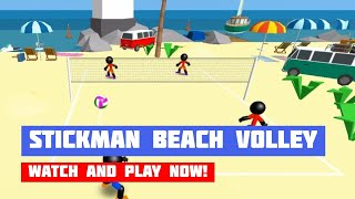 Stickman Beach Volleyball · Game · Gameplay