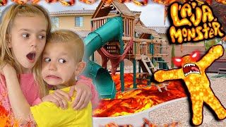 The Floor Is LAVA In Tannerites Lava Monster on The Playground!