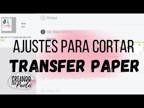 Antes de cortar Transfer Paper mira este video *MUY IMPORTANTE*
