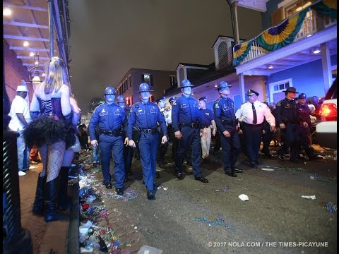 Midnight sweep of Bourbon Street marks the end of Mardi Gras 2017