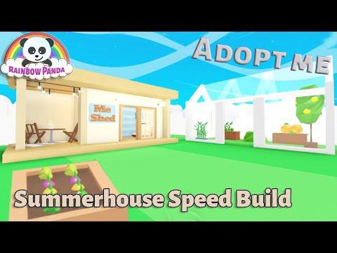 Adopt Me Builds - 🌻 Summerhouse U0026 Greenhouse Speed Build