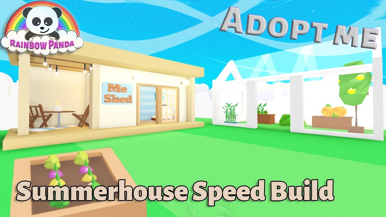 Adopt Me Builds - 🌻 Summerhouse & Greenhouse Speed Build