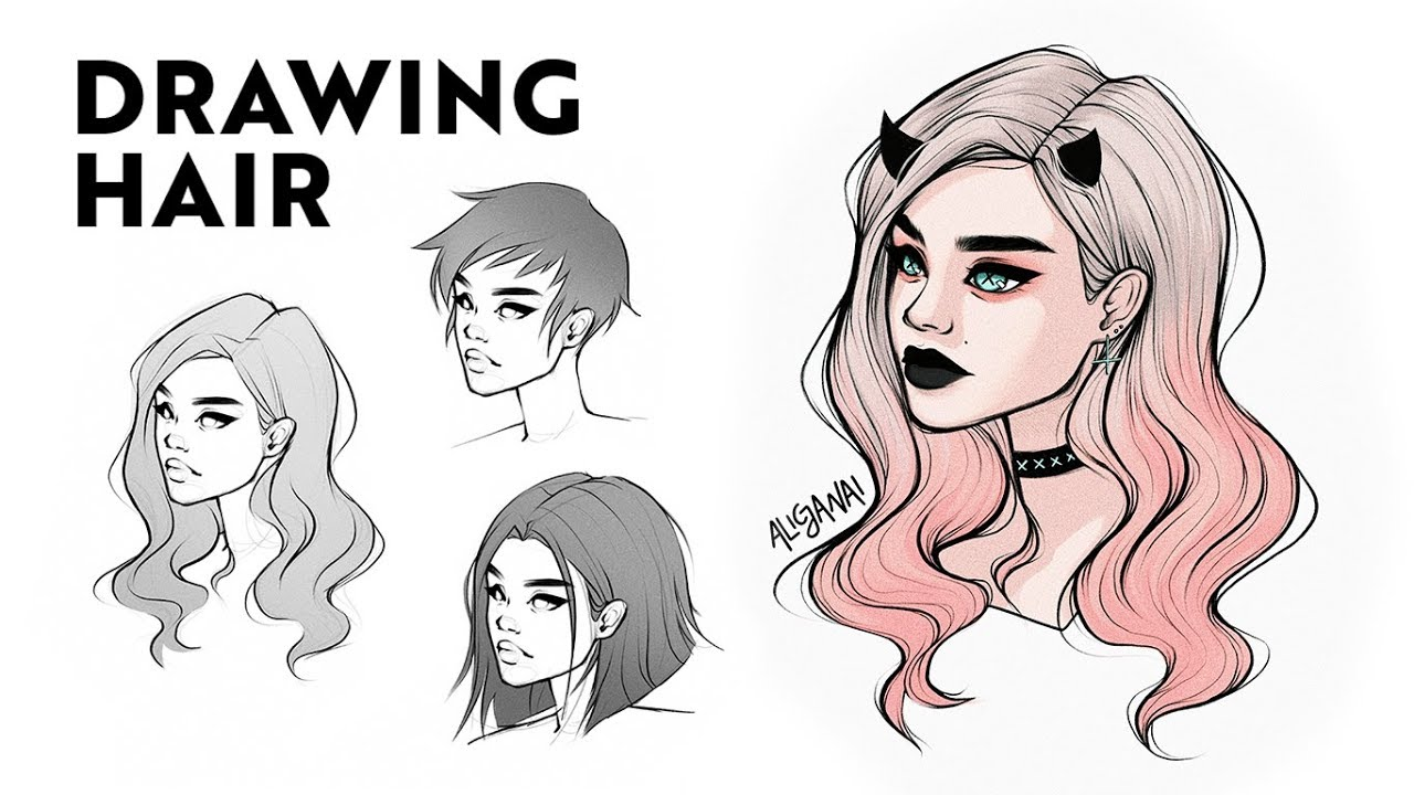 5 Simple Tips For Better People Pictures: HOW TO DRAW HAIR: STEP BY STEP