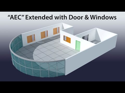 "3D Max Tutorial:""AEC""Extended Part 01"