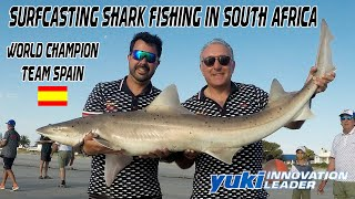 Surfcasting Shark Fishing in South Africa Yuki - Surfcasting World Champion Spain Team Beach Fishing