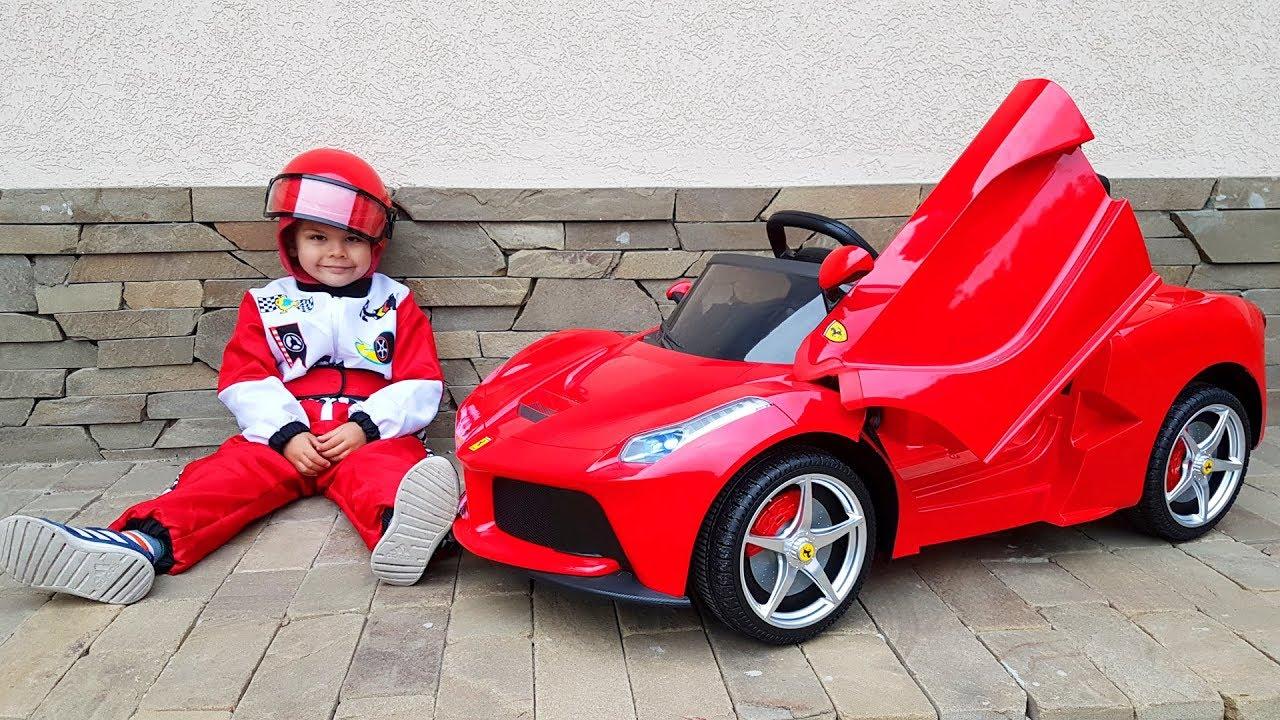 Unboxing And Assembling the power wheels La Ferrari
