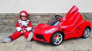 Funny Paw Patrol Unboxing And Assembling The POWER Wheel Ride On La Ferrari