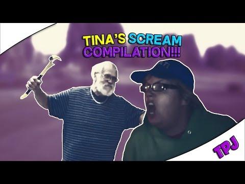 Tina's Scream Compilation!!! - TheAngryGrandpaShow