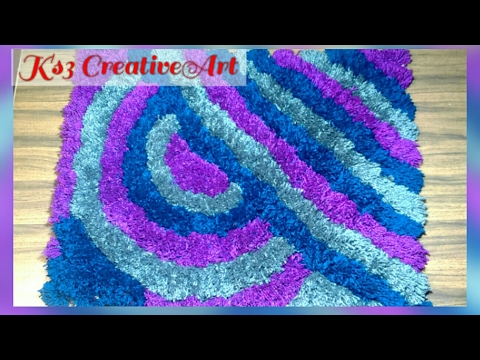 no knitting no crochet Make woolen soft rug/doormat/carpet/blanket/coaster/table mat with old woolen