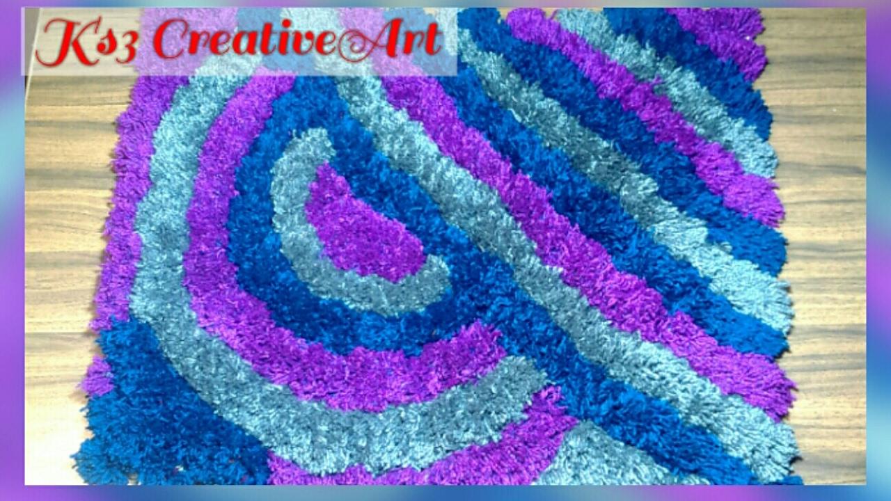 No Knitting No Crochet Make Woolen Soft Rug Doormat Carpet