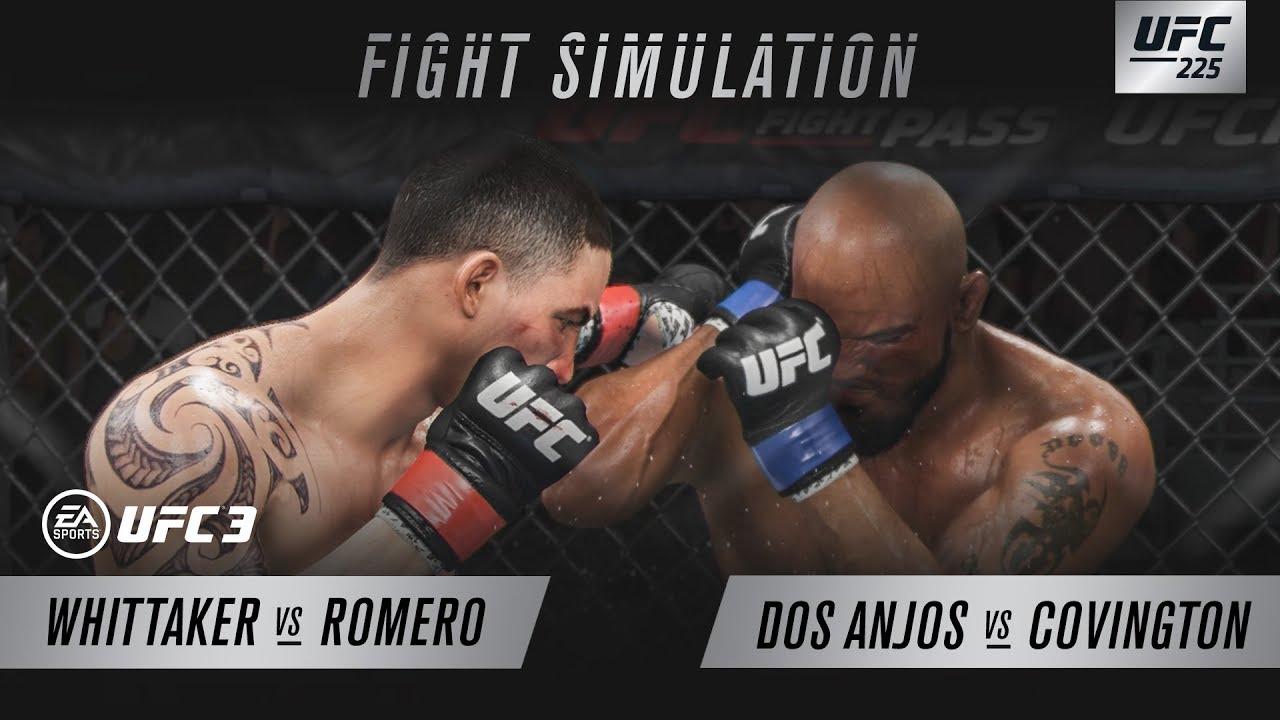 EA SPORTS UFC 3 | UFC 225 SIM - Whittaker Vs Romero & Covington Vs Dos Anjos