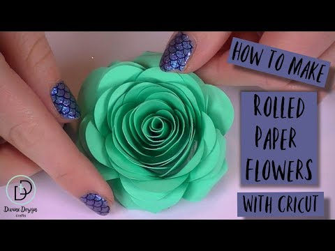 How to Make Rolled Paper Flowers with Cricut | Crazy Crafters Cruise 2019 Highlights