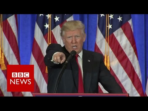 Thumbnail: Donald Trump shuts down CNN reporter - BBC News