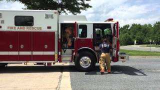 MCFRS Rescue Squad 729 Responding Too Dump Truck Fire