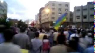 Maroc Tanger 17  juillet révolution 100 milles manifestants