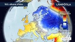 Kuukausiennuste lämpötiloista 12.5.2020