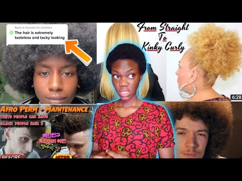 AFRO HAIR IS TACKY AND TASTLESS ON BLACKS but classy and beautiful on whites? Tiktok Saga