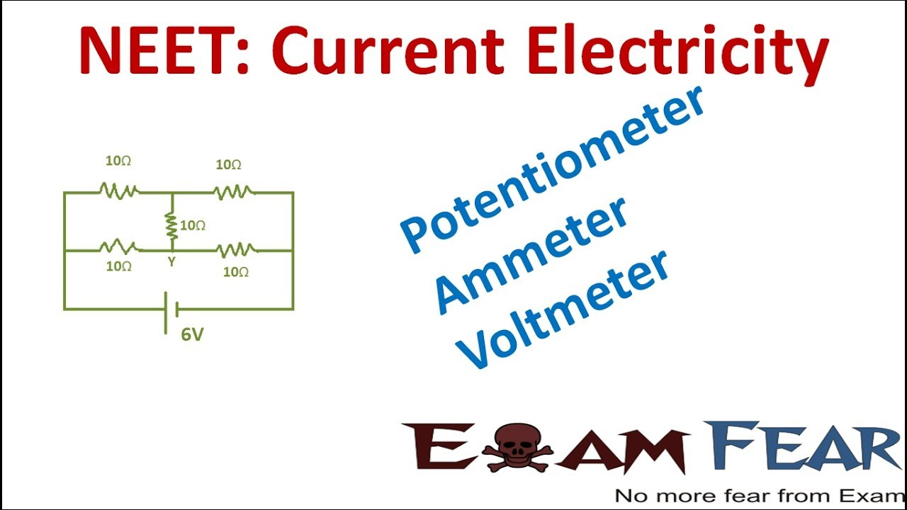 neet physics current electricity potentiometer ammeter voltmeter [ 1280 x 720 Pixel ]