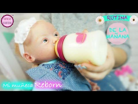 Rutina de la Mañana de mi muñeca bebé reborn LINDEA - Videos de muñecas bebés