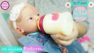 Обложка на видео о Rutina de la Mañana de mi muñeca bebé reborn LINDEA - Videos de muñecas bebés