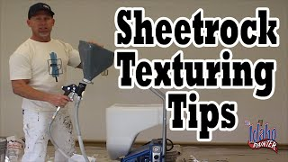 Drywall & Sheetrock Texturing Hacks.  How To Spray Texture A Wall.
