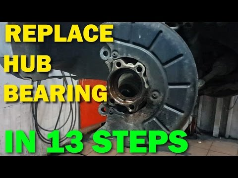 How to replace / change front wheel bearings VW Golf Mk5, Jetta in 13 steps
