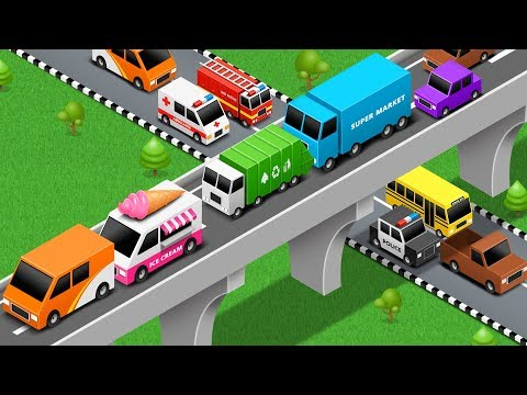 Learn Vehicles Names and Sounds - Car Parking Videos