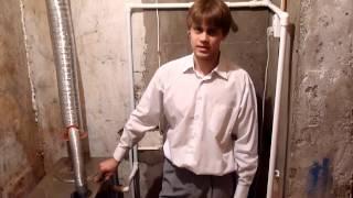 Улучшаем коаксиальный дымоход котла отопления(Узнать больше о газовых котлах для отопления вы можете по ссылке http://www.avto3.com/garage/gazovie_kotli.html Увеличиваем..., 2012-12-25T17:35:55.000Z)