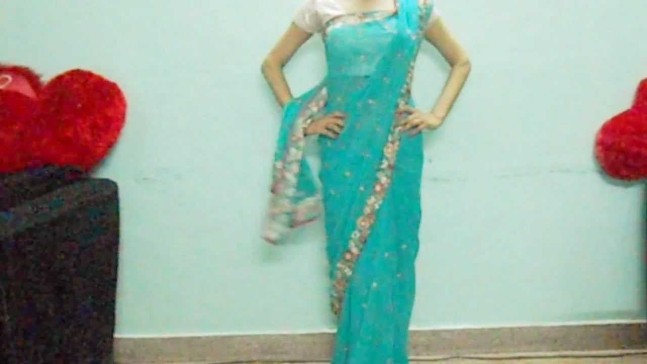 How To Carry Saree Pallu In A proper Way Easily - New Way ...