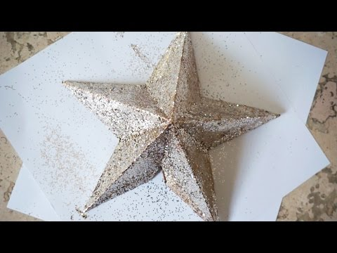diy star christmas tree topper 3d star superholly