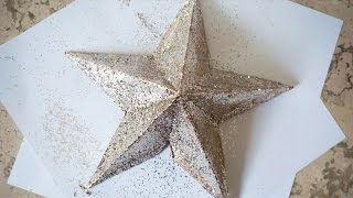 DIY STAR Christmas tree topper | 3D Star | Superholly