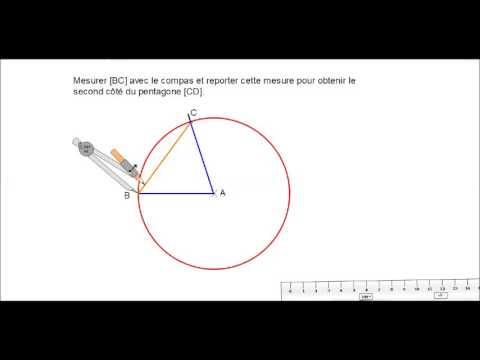 géom   tracer le pentagone