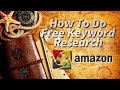 Free Keyword Research For Amazon Listings